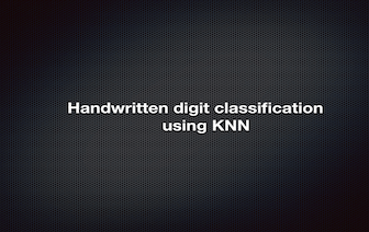 Hnadwritten digit classififcation