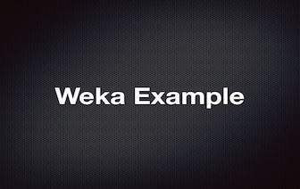 Weka Java example